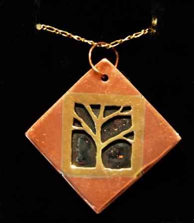 Tree Pendant by Enya Cochran (Brass/Copper)
